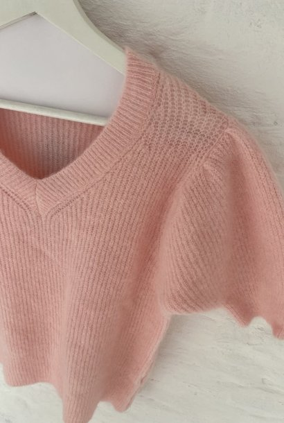 Katey soft knitted t-shirt Pink