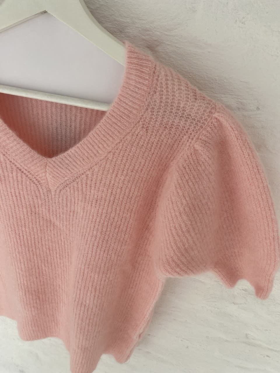 Katey soft knitted t-shirt Pink-1