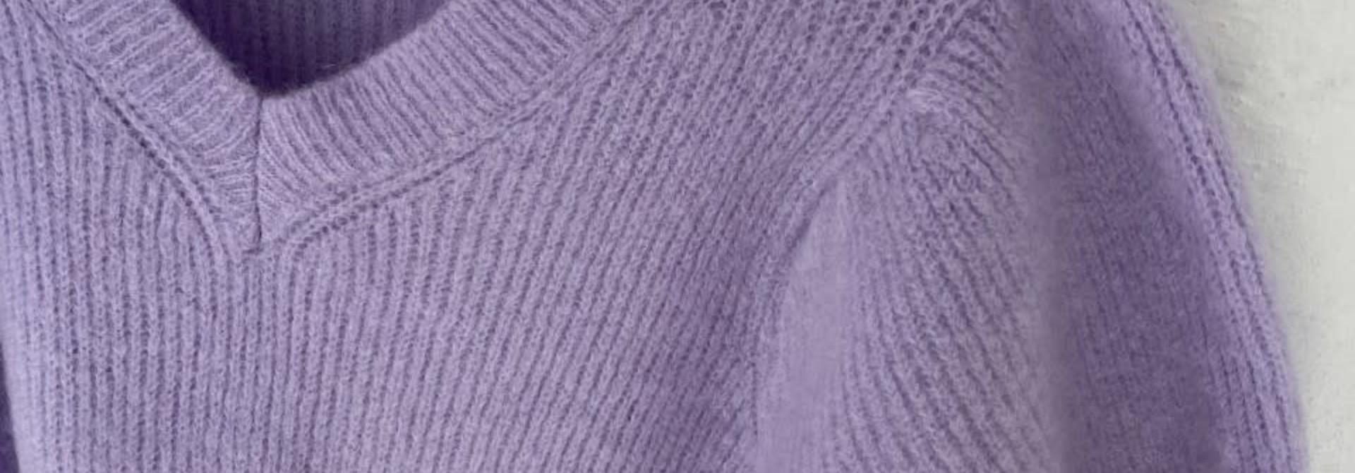 Katey soft knitted t-shirt Lila