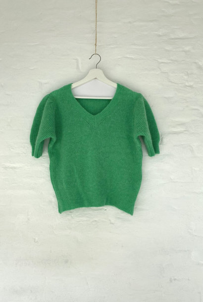 Katey soft knitted t-shirt Vintage Green