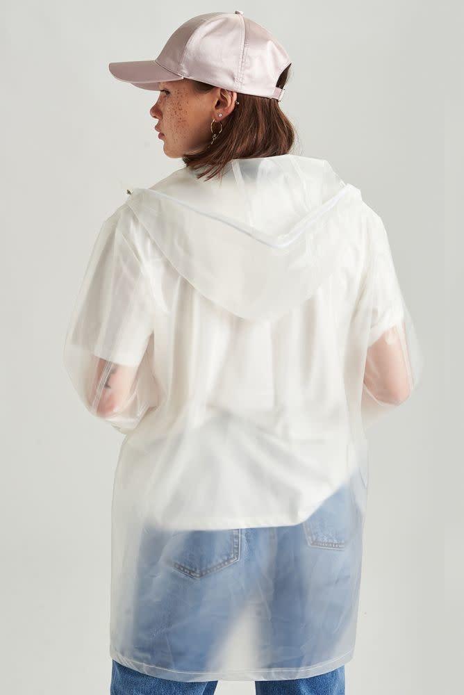 Yoki transparant raincoat White-2