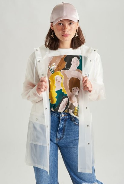 Yoki transparant raincoat White