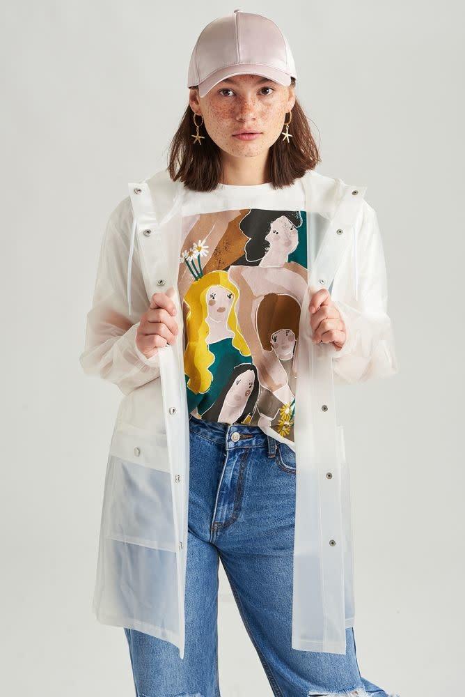 Yoki transparant raincoat White-1