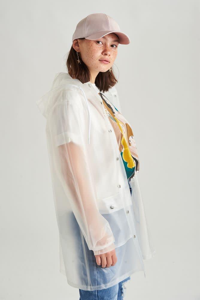 Yoki transparant raincoat White-3