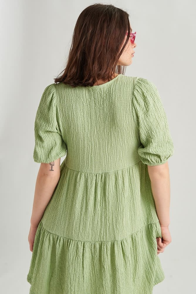 Melly dress Blossom Green-3