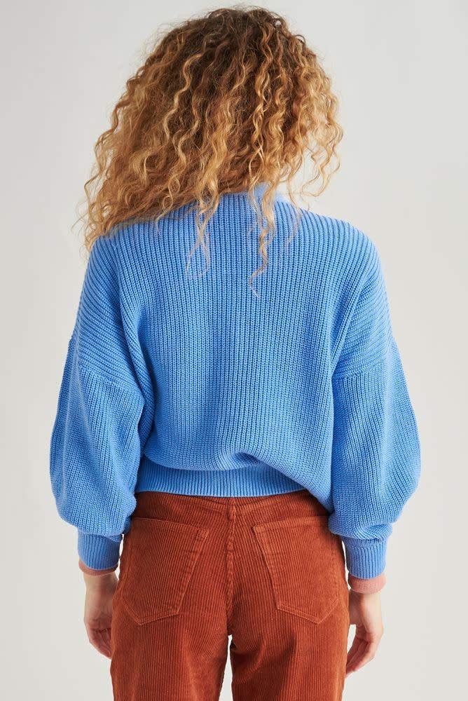 Varyn oversized cardigan Blue-2