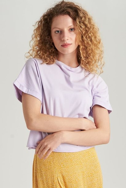 Libby cropped cut-off t-shirt Lila