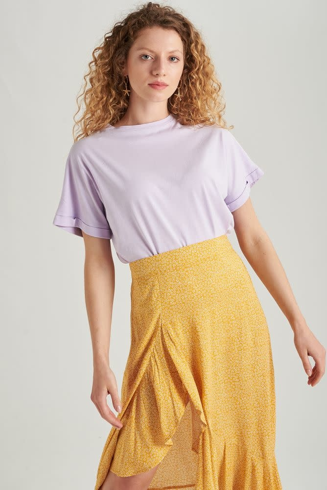 Libby cropped cut-off t-shirt Lila-4
