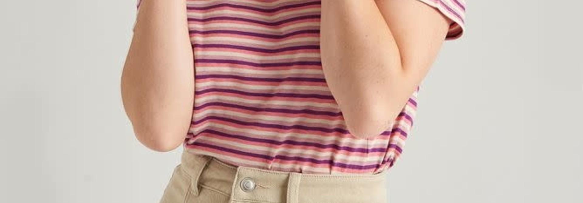 Alyson stretch denim skirt Beige