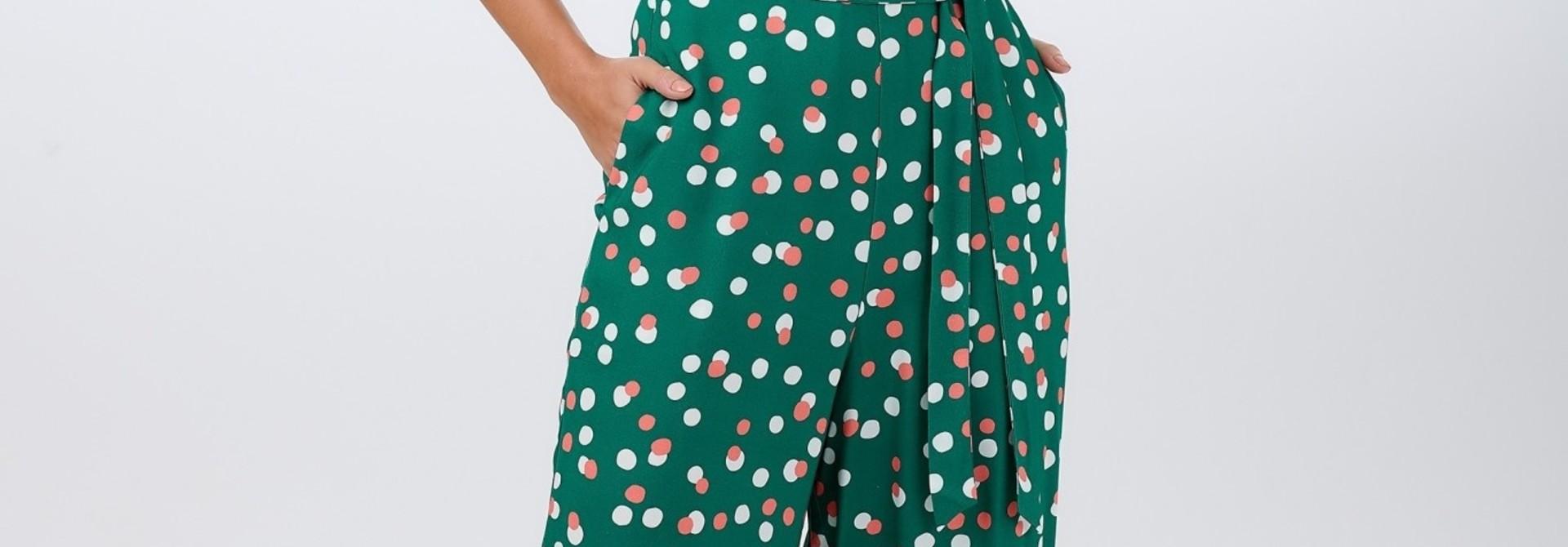 Francesca jumpsuit Green Dots