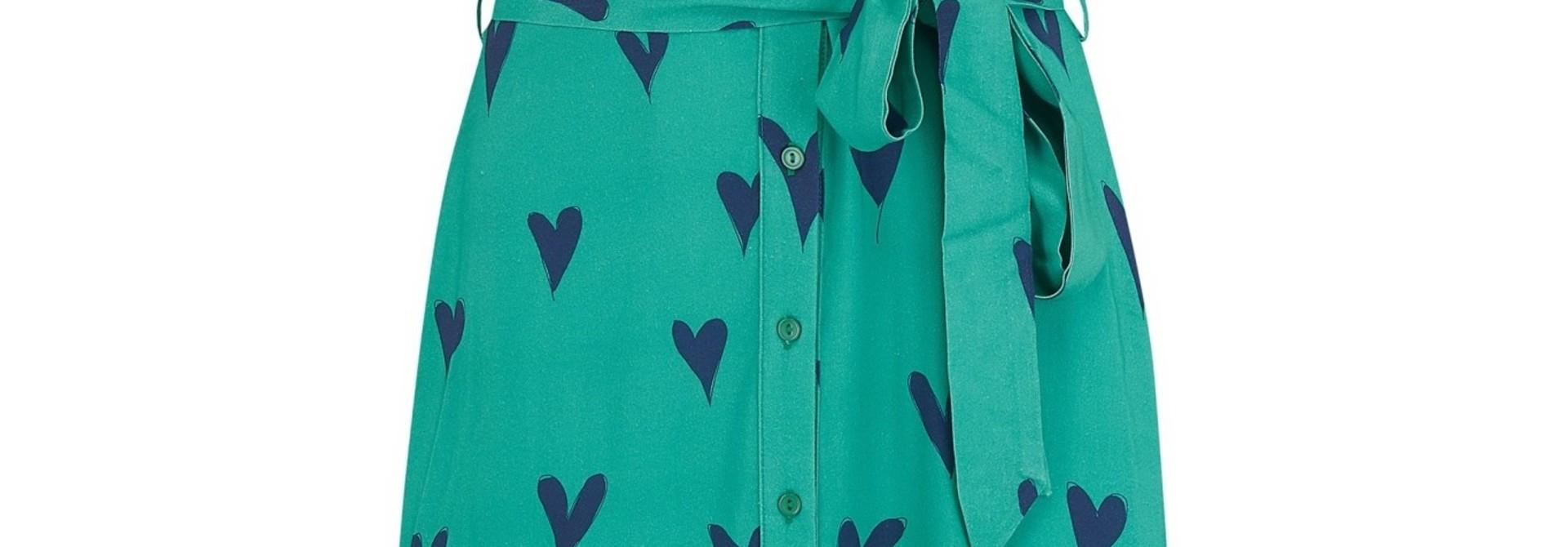 Abby shirt dress Green Hearts