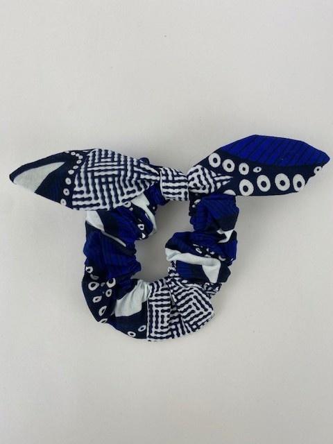 Foma bow scrunchie Cobalt-1