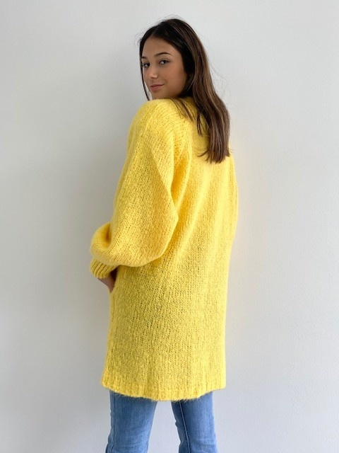 June midi cardigan Yellow-3