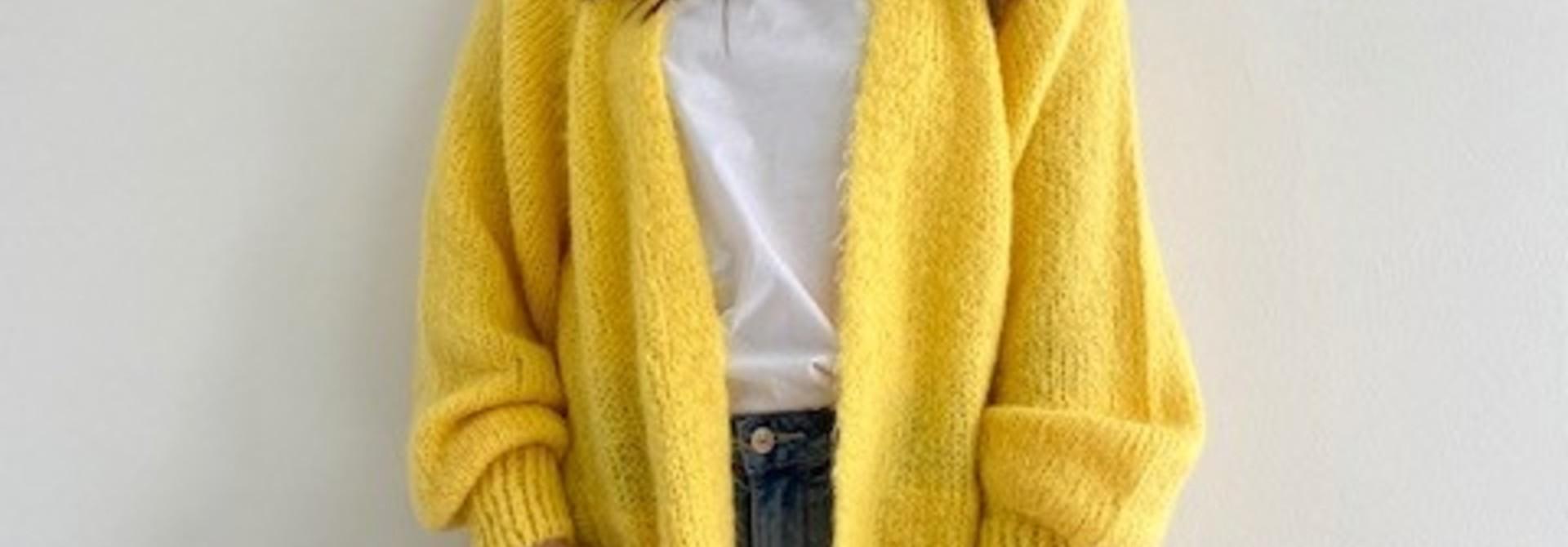 June midi cardigan Yellow