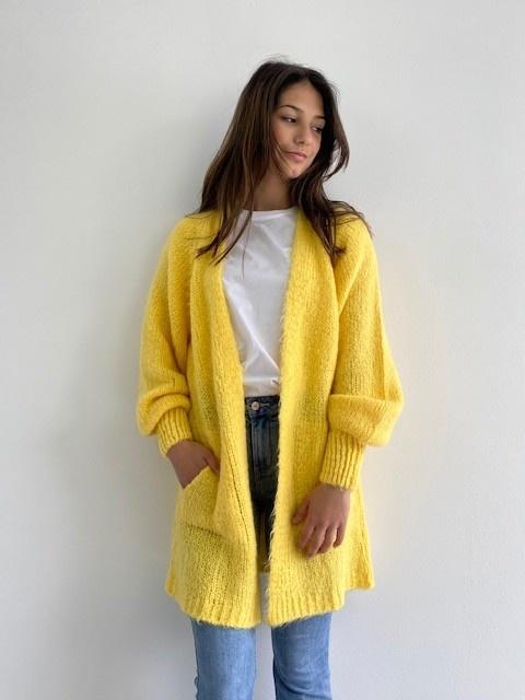 June midi cardigan Yellow-1