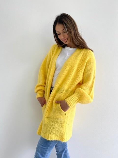 June midi cardigan Yellow-4