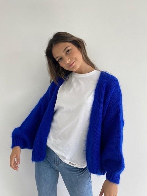 Jelisa oversized short bernadette Cobalt Blue-4
