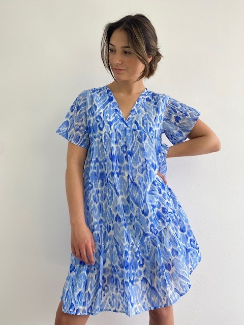 Ellaug dress Cobalt-1