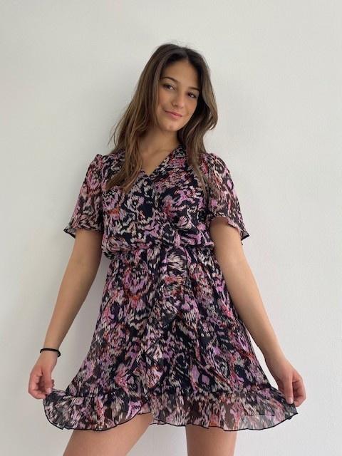 Bekka ruche dress Violet Flame-4