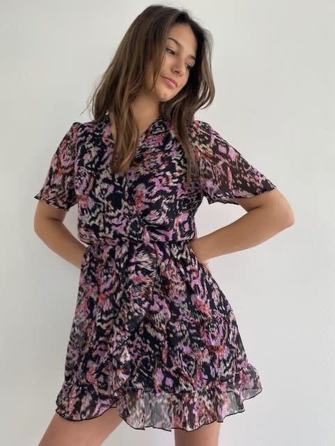 Bekka ruche dress Violet Flame-2