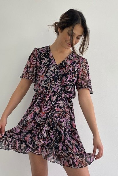 Bekka ruche dress Violet Flame