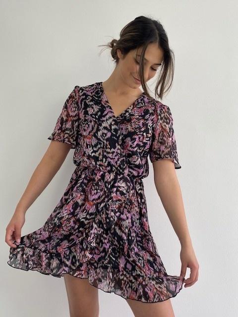 Bekka ruche dress Violet Flame-1