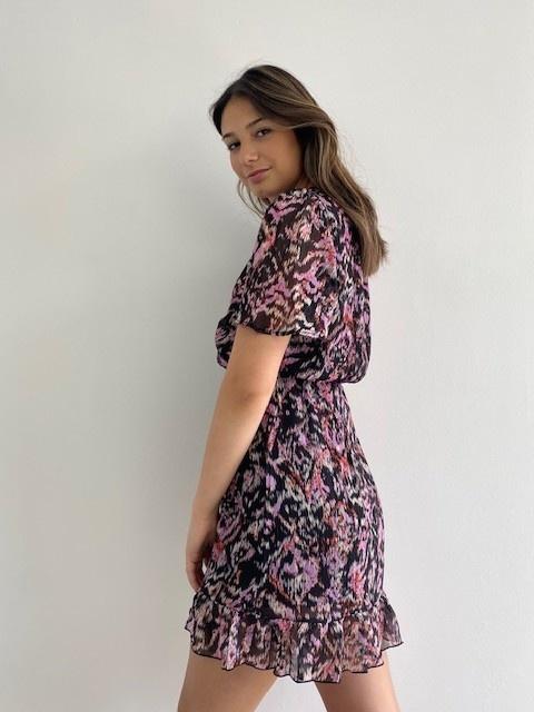 Bekka ruche dress Violet Flame-3