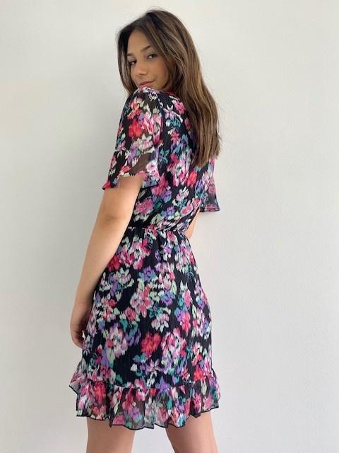 Bekka ruche dress Aquarel fleur-2