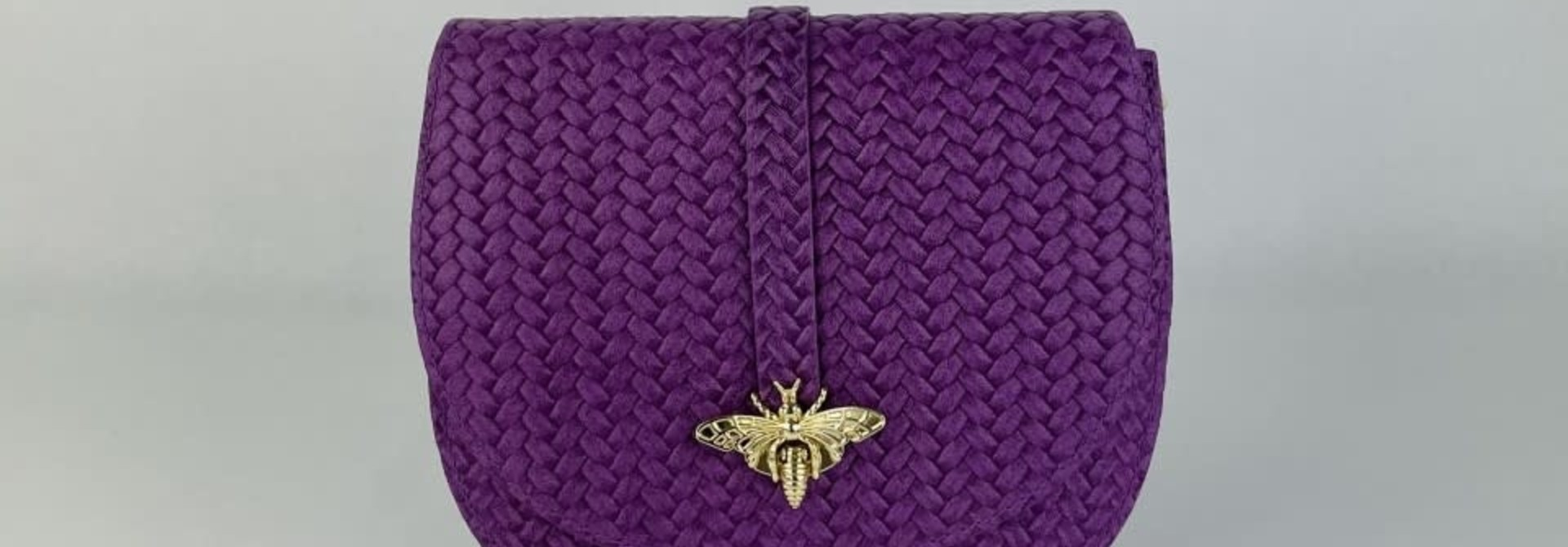 Cléo calf leather dragonfly bag Violet
