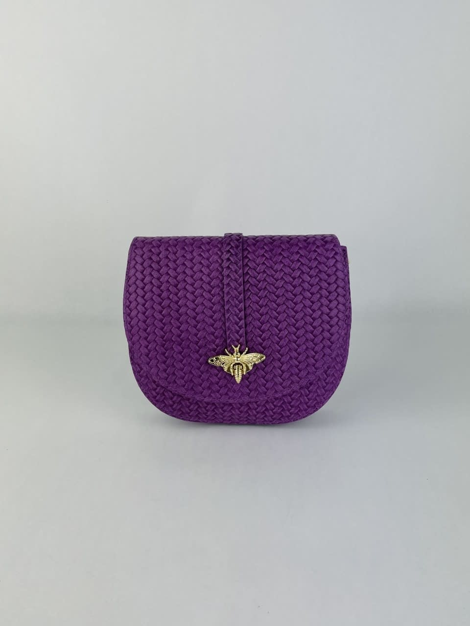 Cléo calf leather dragonfly bag Violet-1