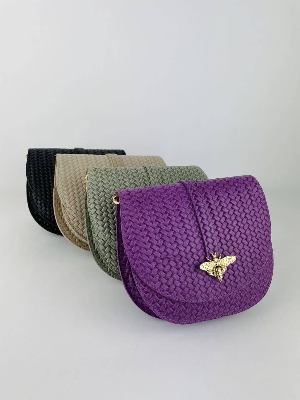 Cléo calf leather dragonfly bag Violet-3