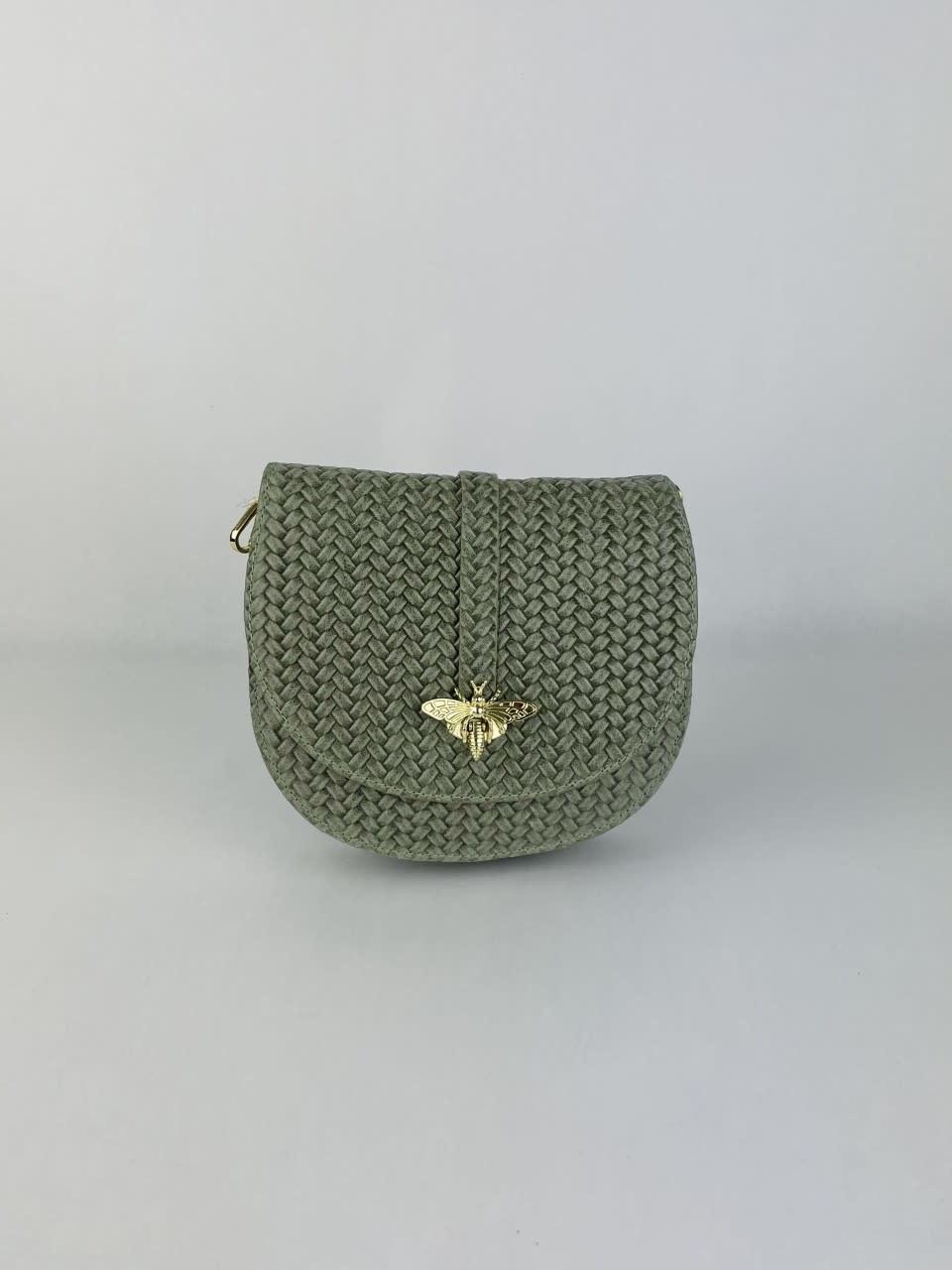 Cléo calf leather dragonfly bag Moss-1