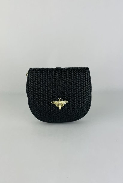 Cléo calf leather dragonfly bag Black