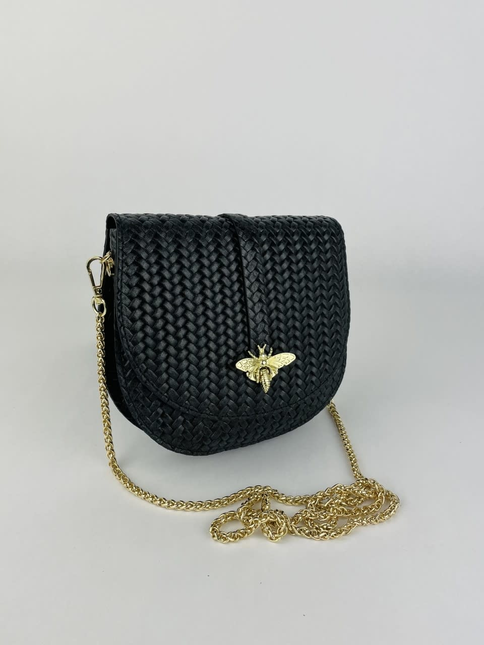Cléo calf leather dragonfly bag Black-2