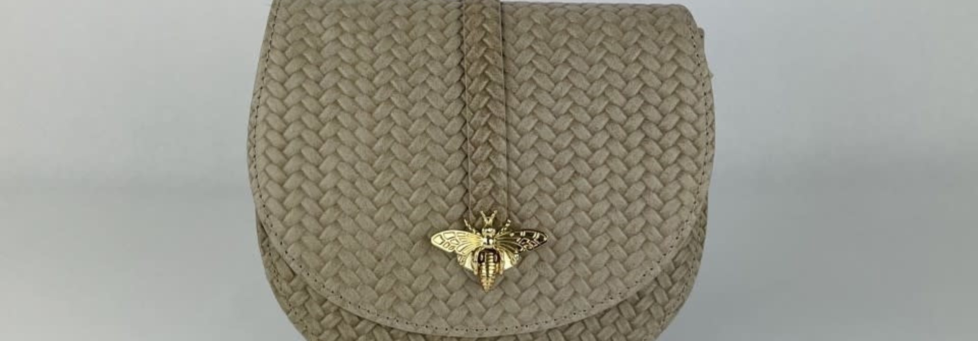 Cléo calf leather dragonfly bag Beige