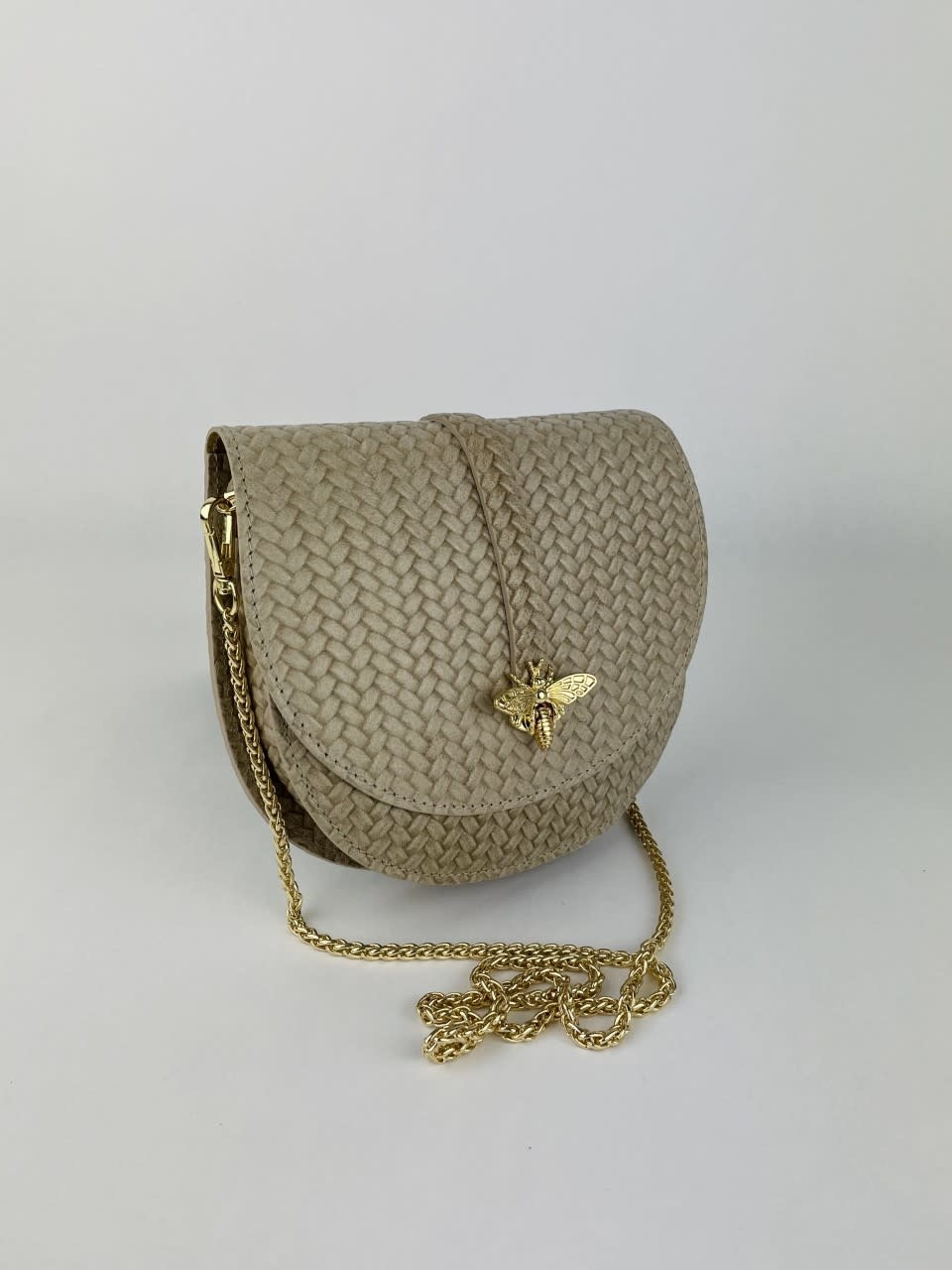 Cléo calf leather dragonfly bag Beige-2