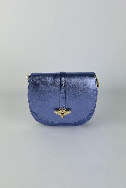 Xenna metalic calf leather dragonfly bag Lila