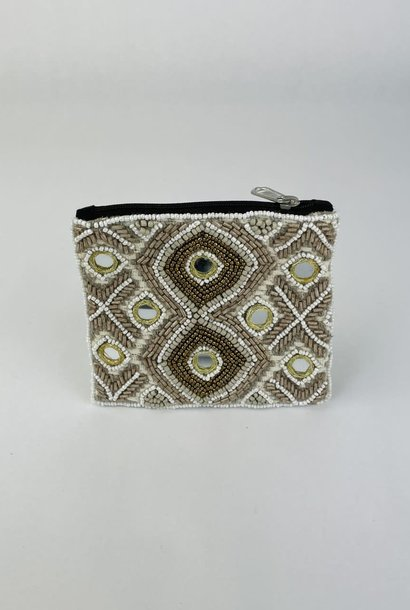 Semba bohemain pearl pouch Taupe