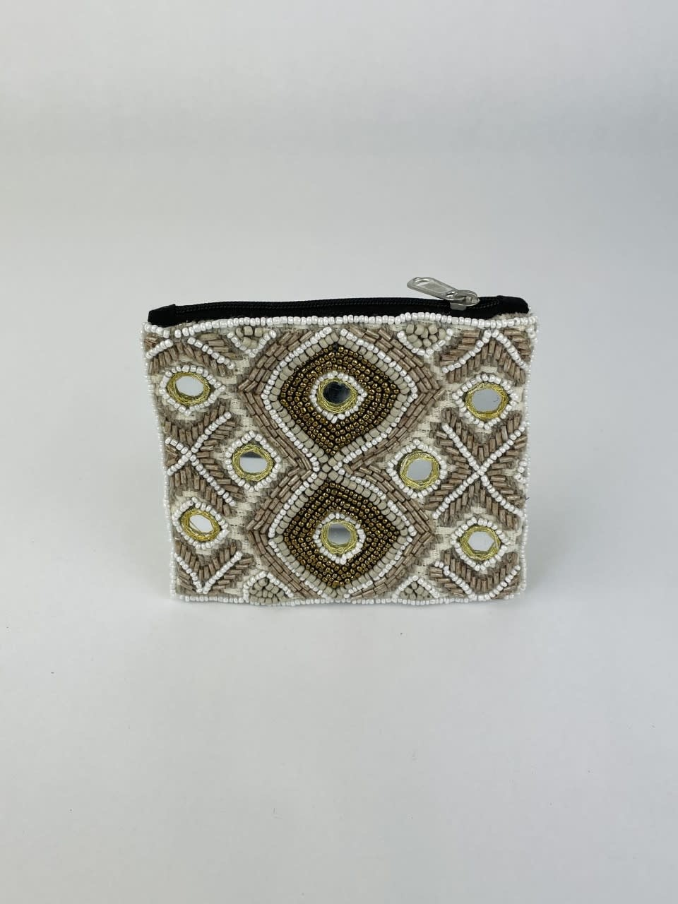 Semba bohemain pearl pouch Taupe-1