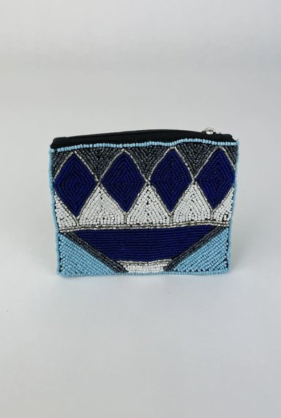 Semba bohemain pearl pouch Cobalt Blue
