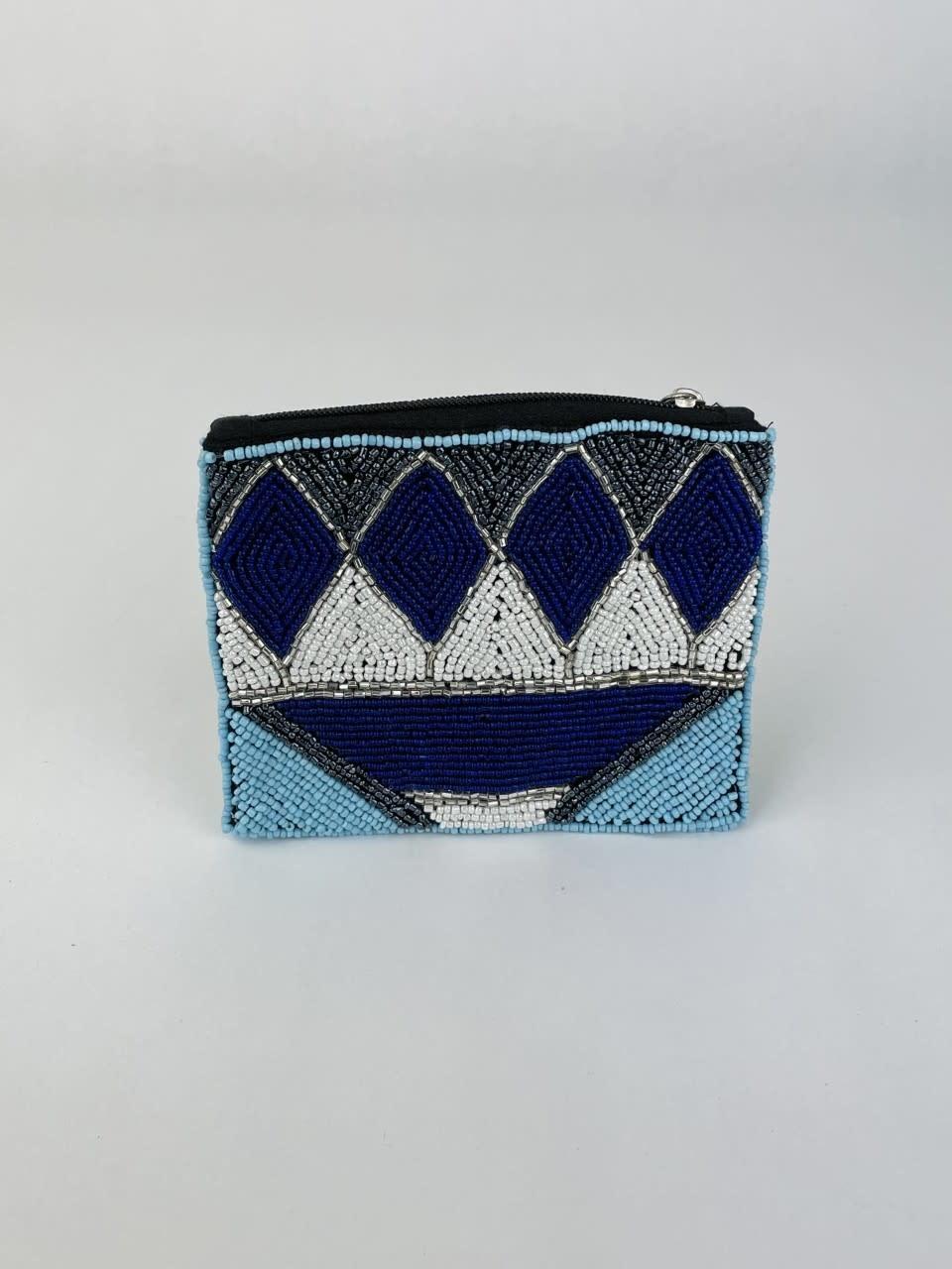 Semba bohemain pearl pouch Cobalt Blue-1