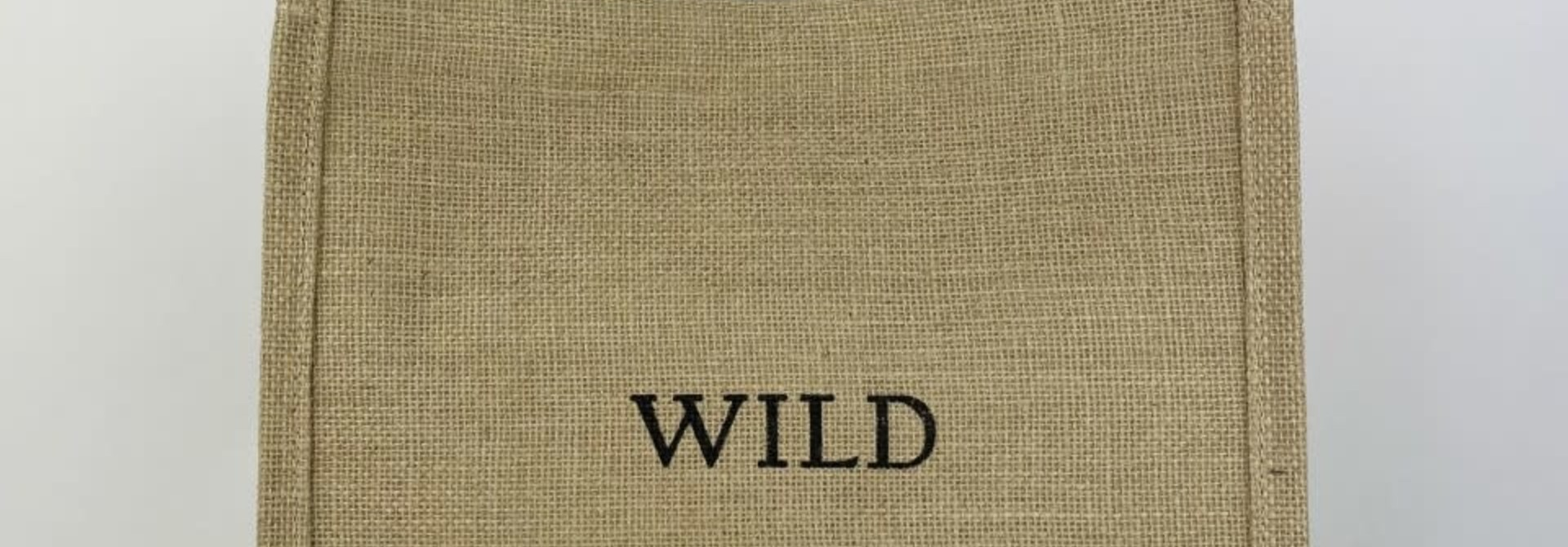 'Wild' linen shopper Black
