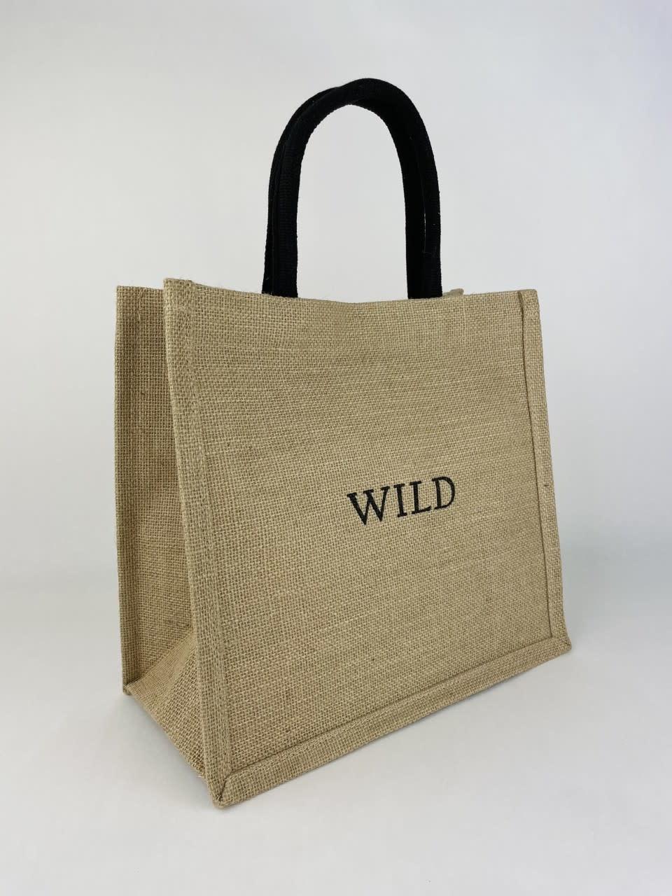 'Wild' linen shopper Black-2