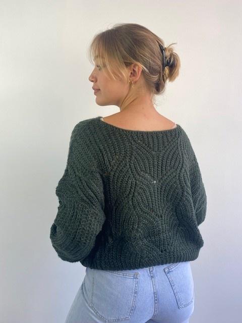 Emea ajour knit Dark Green-3