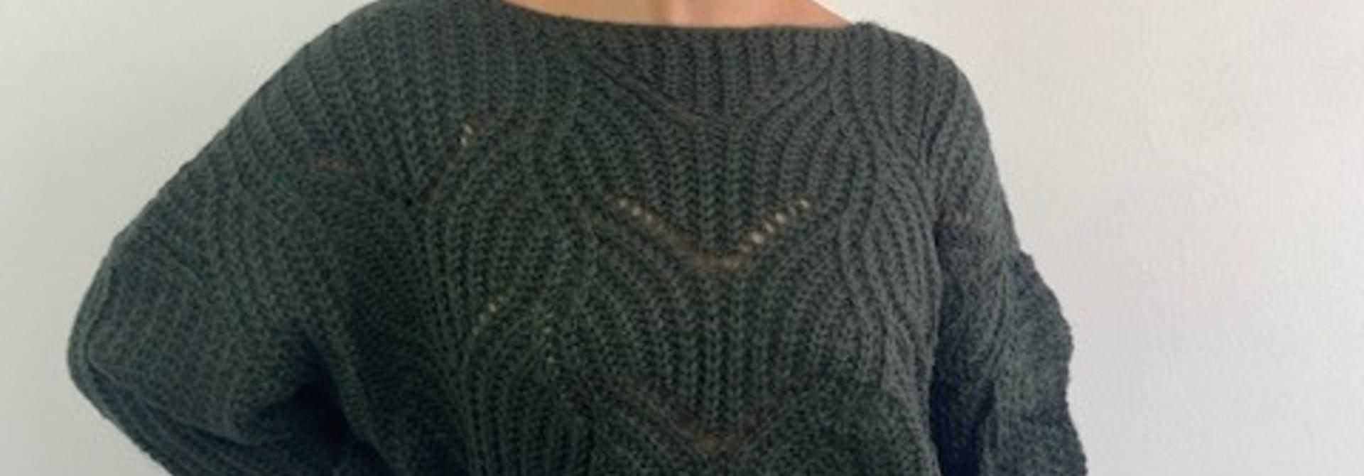 Emea ajour knit Dark Green
