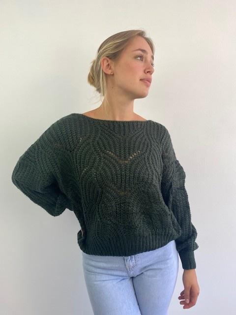Emea ajour knit Dark Green-1