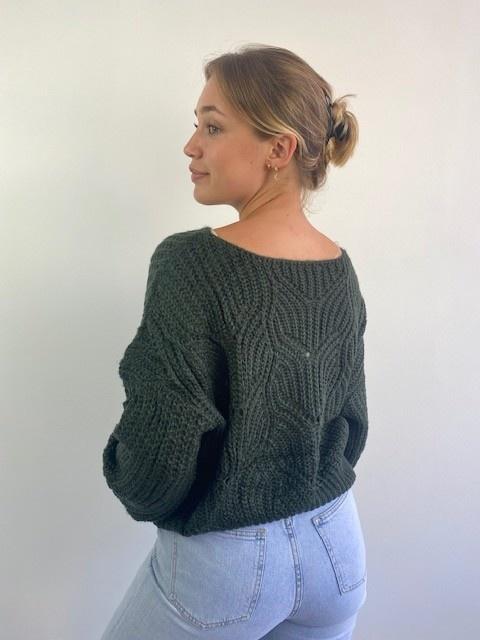 Emea ajour knit Dark Green-2