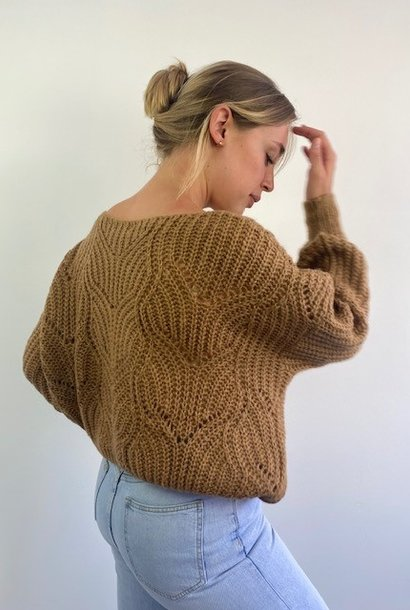Emea ajour knit Camel