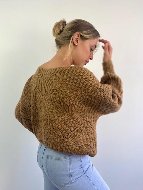 Emea ajour knit Camel-1