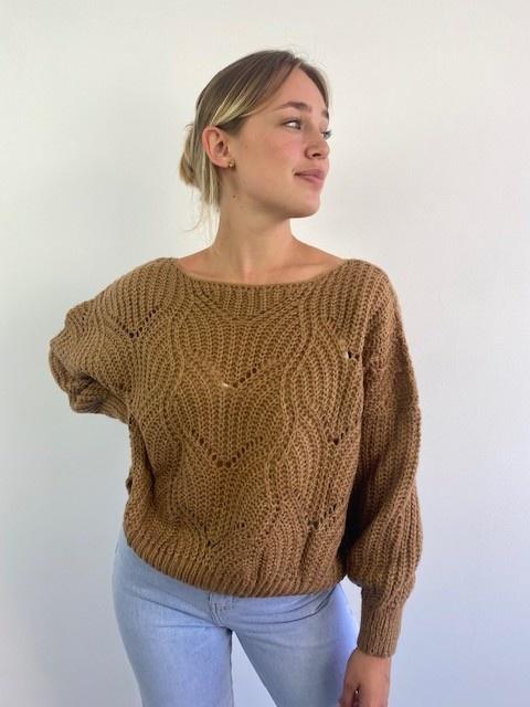 Emea ajour knit Camel-3